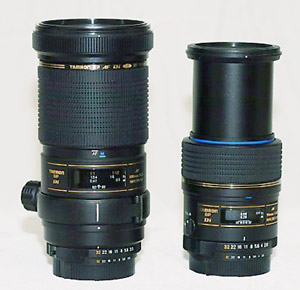 180mm and 90mm lenses