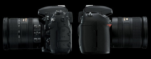 Nikon D200 contacts, Nikon D200 battery compartment