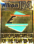 Pin of F4, Winner of the Euriopean Camera of the Year ´89-'90