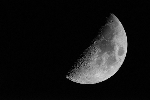 Moon taken with Nikkor 1000mm reflex lens and Nikon D800
