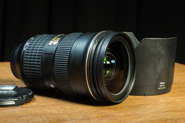 Nikon 24-70mm/2.8G ED lens with HB-40 lens hood