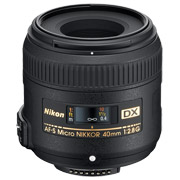 40mm micro Nikkor DX lens