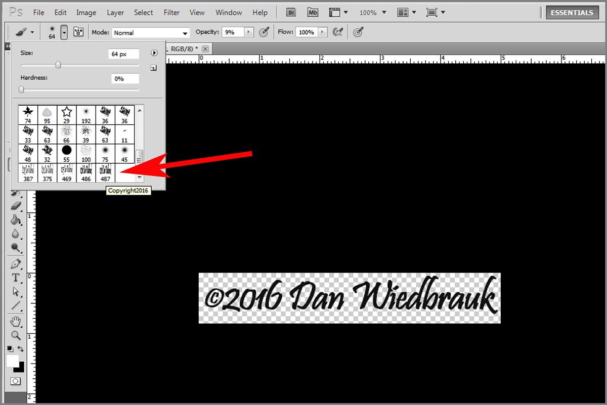 Making a copyright brush in photoshop step 3 buycottarizona Choice Image